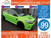 2009 FORD FOCUS 2.5 RS GOOD / BAD CREDIT CAR FINANCE FROM 99 P/WK