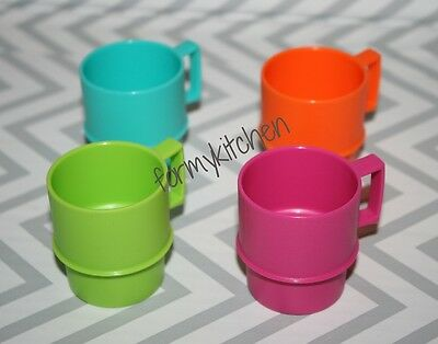 Tupperware Tuppertoy  Mini Toy Kids Stackable Mug Set 4  New!!!