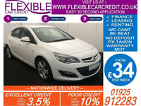 2014 VAUXHALL ASTRA 2.0 CDTI SRI GOOD / BAD CREDIT CAR FINANCE AVAILABLE