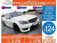 2012 MERCEDES C63 AMG 6.2 GOOD / BAD CREDIT CAR FINANCE FROM 124 P/WK