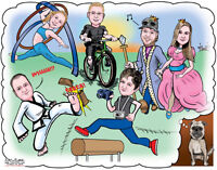 Custom High Quality Caricatures - The PERFECT Gift!