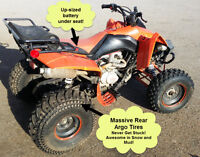 ATV 200cc - Incl. Extra Engine, Huge Tires, Performance Shocks!