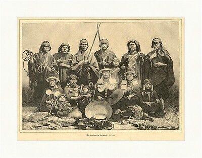 Die Araukaner in Deutschland Mapuche Südamerika Indianer Schale  E 4039