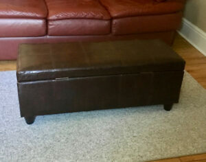 Bouclair Faux Leather Storage Bench - Great Condition