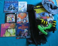 3-D crashing witch and 6 Hallowe'en Books