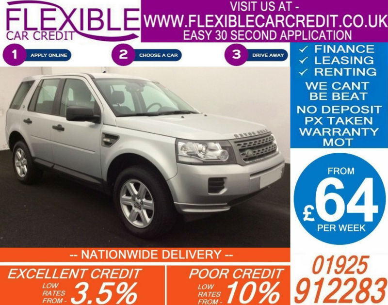 2013 LAND ROVER FREELANDER TD4 GS GOOD / BAD CREDIT CAR FINANCE AVAILABLE