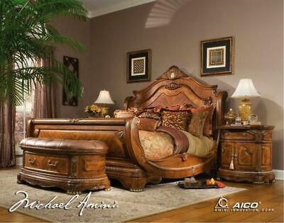 AICO by Michael Amini Cortina 5PC king size bedroom set