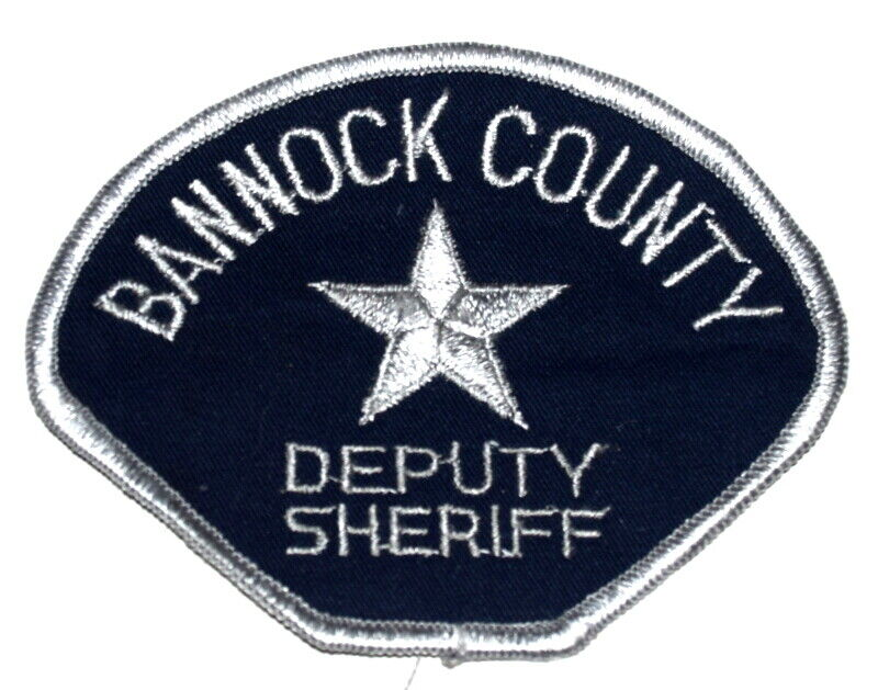BANNOCK COUNTY IDAHO ID Sheriff Police Patch VINTAGE OLD MESH