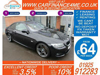 2011 BMW 320i 2.0 M-SPORT GOOD / BAD CREDIT CAR FINANCE FROM 64 P/WK
