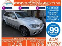 2010 BMW X5 3.0D XDRIVE40D M-SPORT GOOD / BAD CREDIT CAR FINANCE FROM 99 P/WK