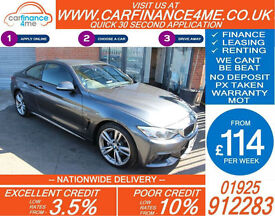 2015 BMW 435D 3.0 XDRIVE M-SPORT GOOD / BAD CREDIT CAR FINANCE FROM 114 P/WK