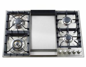 gas cooktop with griddle. Ilve UXLP90F 36\ Gas Cooktop With Griddle 2