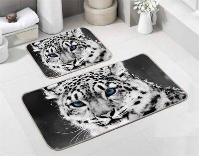 Centfux Tiermotiv Wc Garnitur Badematten teppich 60X100cm White Tiger