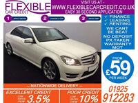2013 MERCEDES C220 CDI AMG SPORT GOOD / BAD CREDIT CAR FINANCE AVAILABLE