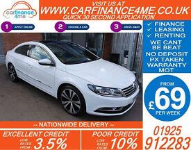 2014 VW PASSAT CC 2.0 GT DSG GOOD / BAD CREDIT CAR FINANCE FROM 69 P/WK