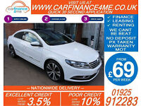 2014 VW PASSAT CC 2.0 GT DSG GOOD / BAD CREDIT CAR FINANCE FROM 69 P/WK
