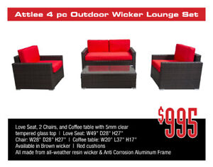 All High End Outdoor Resin Wicker Sets on floor Now 30% OFF!!!