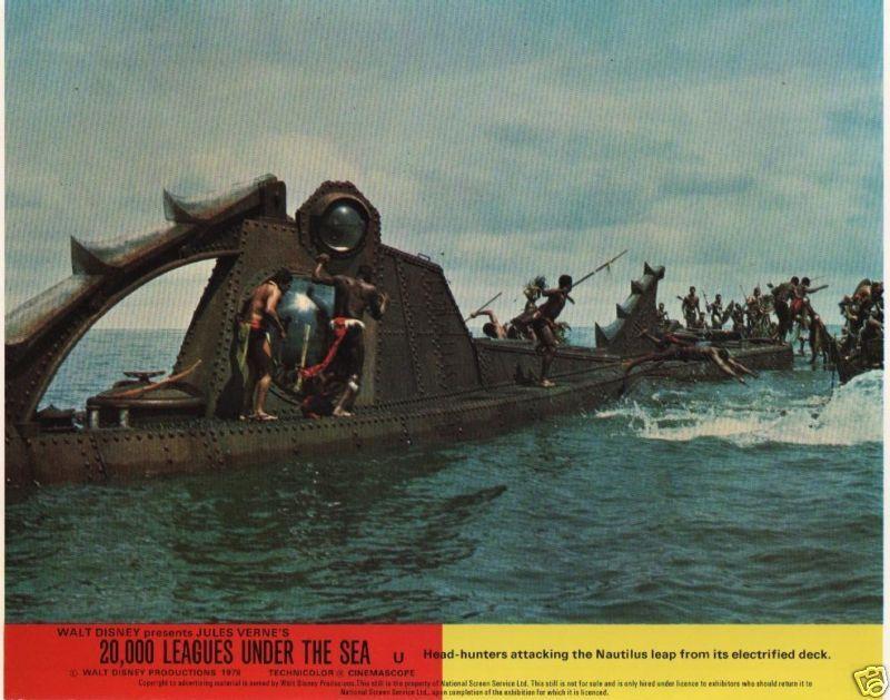 20,000 Leagues Under The Sea  lobby cards - James Mason, Kirk Douglas