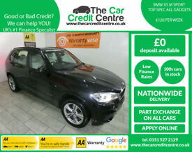 2014,BMW X5 3.0TD 258bhp Auto xDrive30d M Sport***BUT FOR ONLY £120 PER WEEK***