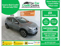 2011 Nissan Qashqai+2 (7 seater) ***BUY FOR ONLY £48 PER WEEK***