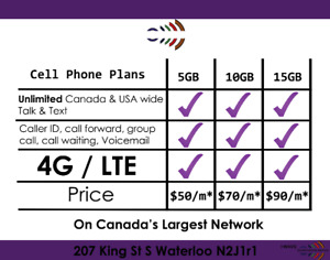 Talk and Text +15GB LTE Data starting at $60 a month NO CONTRACT