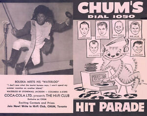 WANTED **CHUM HIT PARADE CHARTS** from 1957-65