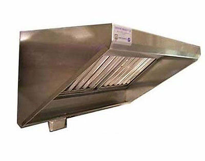 Superior Hoods 8 Ft Stainless Steel Concession Range Grease Hood Nsf Nfpa96