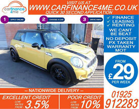 2008 MINI COOPER S 1.6L GOOD / BAD CREDIT CAR FINANCE AVAILABLE