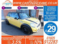 2008 MINI COOPER S 1.6L GOOD / BAD CREDIT CAR FINANCE FROM 29 P/WK