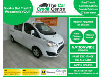 2014 Ford Transit Custom 2.2TDCi Double Cab Van ***BUY FOR ONLY £72 PER WEEK***