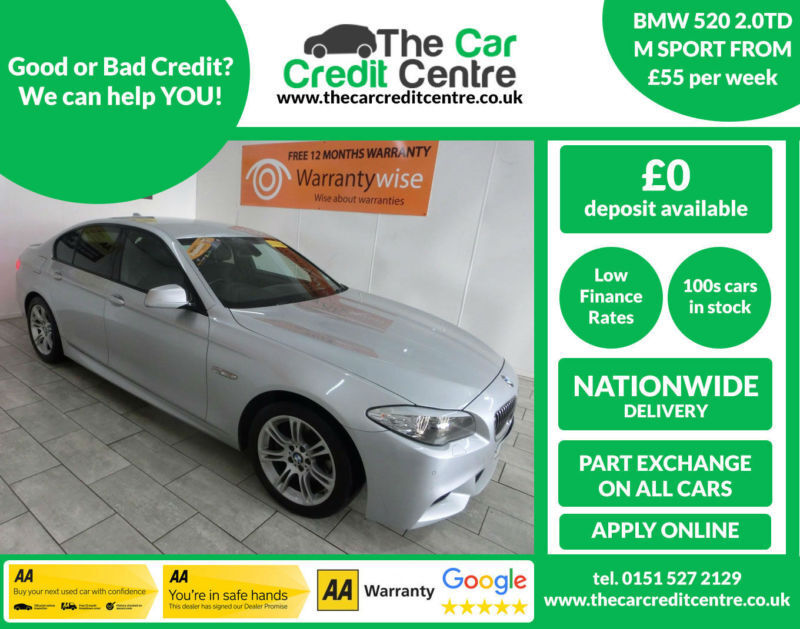2011 BMW 520 2.0TD Auto D M Sport ***BUY FOR ONLY 55 PER WEEK***
