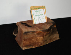 Maple Wood Desktop Business or Other Card Holder - Vertical Comox / Courtenay / Cumberland Comox Valley Area image 1