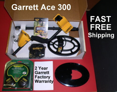 Ace 300 Garrett Metal Detector with Bonus Items **  Fast Free Shipping