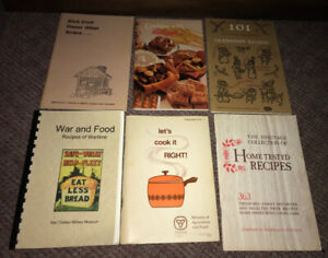Vintage Cookbook lot of 6 Kellogg's Cranberry War Time ++