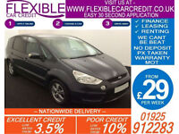 2010 FORD S-MAX 1.8 TDCI ZETEC GOOD / BAD CREDIT CAR FINANCE FROM 29 P/WK