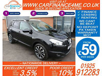 2012 NISSAN QASHQAI+2 1.5 DCI N-TEC GOOD / BAD CREDIT CAR FINANCE FROM 59 P/WK