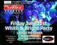 WHITE & BRIGHT PARTY at The Alex on FRIDAY