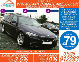 2011 BMW 535D 3.0 TD M-SPORT GOOD / BAD CREDIT CAR FINANCE FROM 79 P/WK