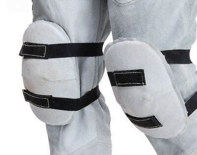 Welding Knee Pads Heat Resistant Leather Welder Protection Safety Working