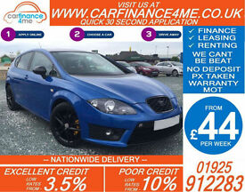 2010 SEAT LEON 2.0 TDI FR GOOD / BAD CREDIT CAR FINANCE FROM 44 P/WK