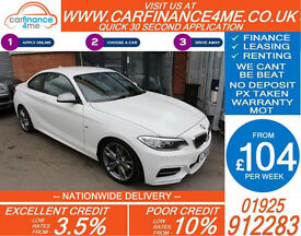 2014 BMW M235i 3.0 AUTO GOOD / BAD CREDIT CAR FINANCE FROM 104 P/WK