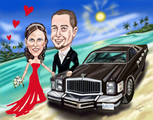 One of a kind Custom Caricatures from Photos!  Book today!