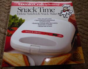 NIB Snack Time Sandwich Snack Maker Non-stick Grill
