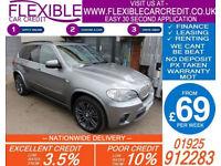 2011 BMW X5 3.0 XDRIVE40D M-SPORT GOOD BAD CREDIT CAR FINANCE FROM 69 P/WK