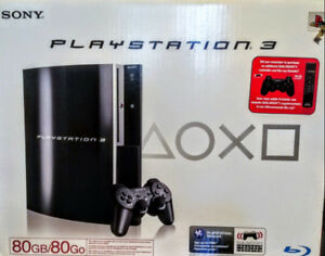 Playstation 3 with 2 Controllers, Remote & 3 Games