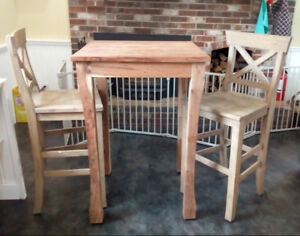 Wicker Emporium Acacia Bar-Height Table and Stools