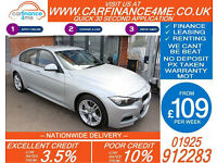 2015 BMW 335D 3.0 XDRIVE M-SPORT GOOD BAD CREDIT CAR FINANCE FR 109 P/WK