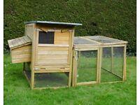 Chicken house with run