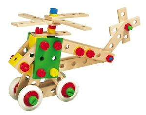 Heros 150 wood constructor toy - helicopter, train and more