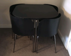 Space saver table and chairs. Delivery available extra cost